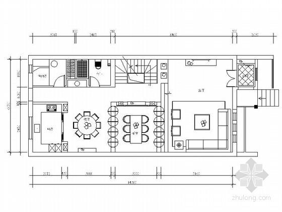 精品设计高档现代四层别墅样板间CAD装修施工图(含效果)