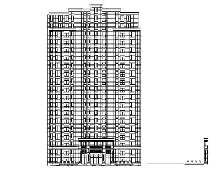 [上海]周浦欧陆风格居住区建筑施工图设计(CAD)