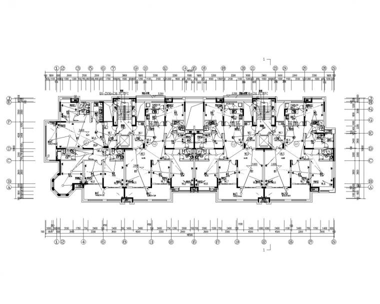 [河南]小区住宅楼电气施工图