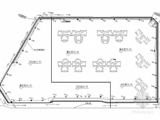[广东]基坑复合土钉墙支护方案图