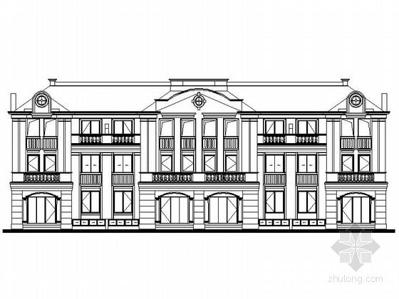 [上海]3层欧式联排别墅建筑施工图(2个户型)