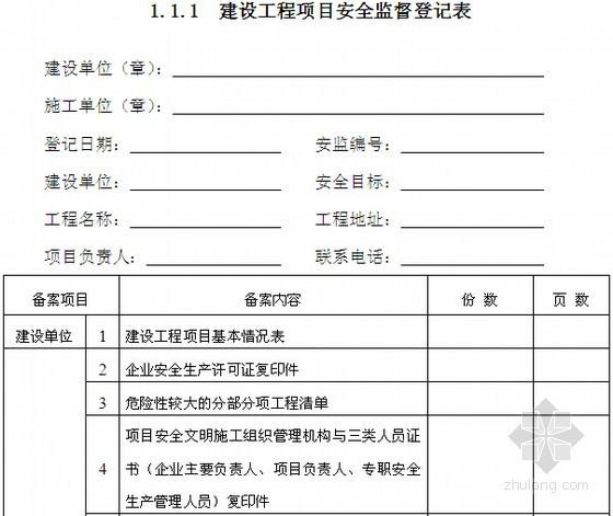 [浙江]施工现场安全管理台账及表格(项目部必备172页)