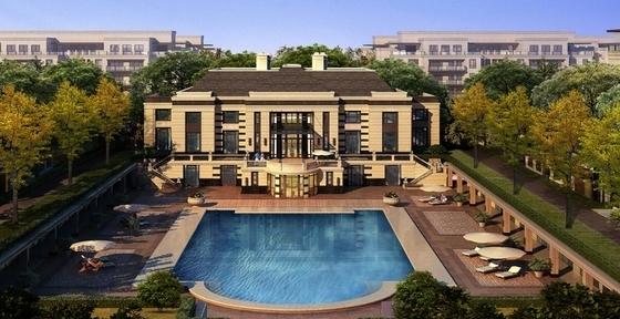 新古典风格住宅区规划效果图