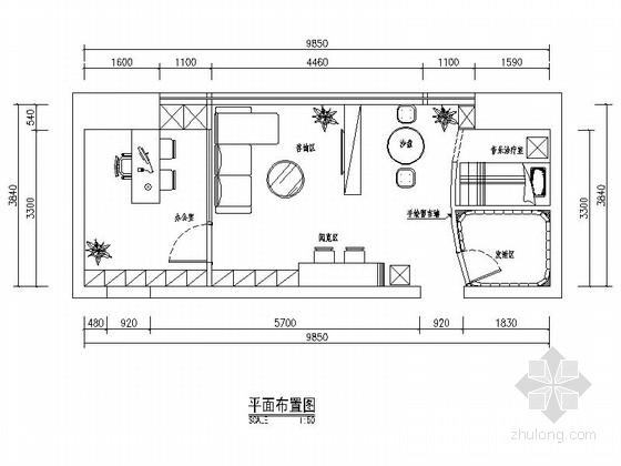 [深圳]现代化集团实验型学校心理咨询室CAD装修图