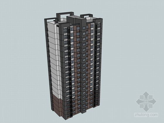住宅楼SketchUp模型下载-住宅楼