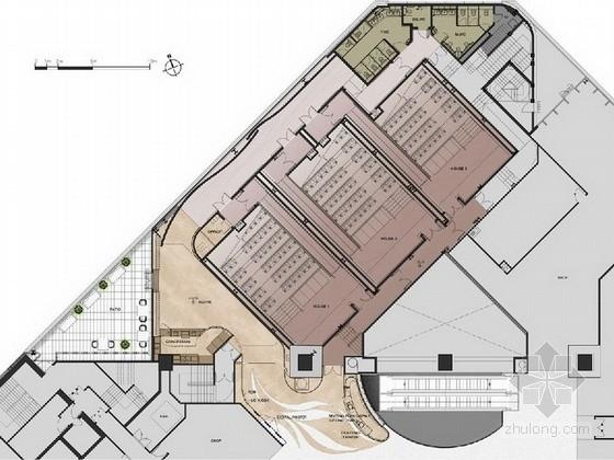 [香港]豪华高档电影院室内装修设计方案及效果图(洗手间 放映厅 大厅过道)
