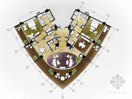[四川]大型旅游五星级现代码头酒店设计方案图
