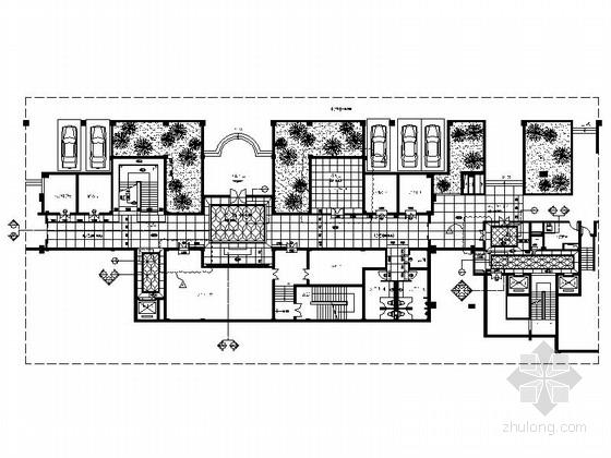 [浙江]高档地下室休闲会所室内装饰设计CAD施工图