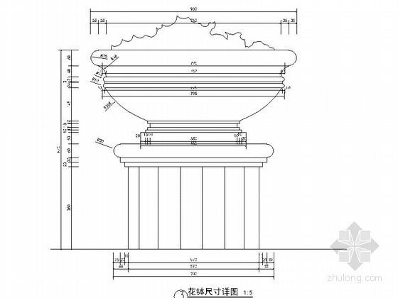 中央广场水景详图设计施工图-水景详图