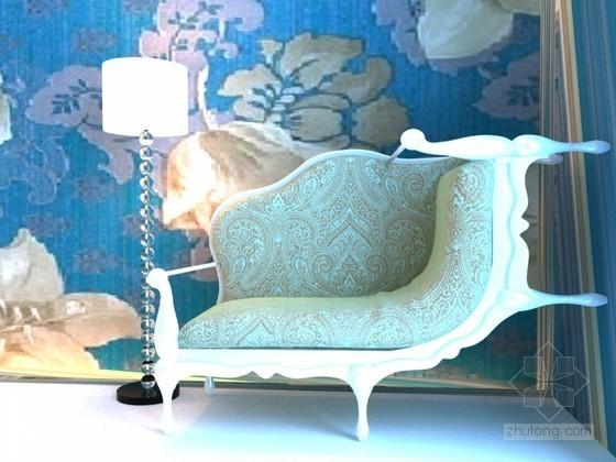 欧式个性沙发3D模型下载