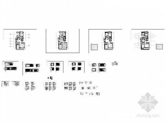[浙江]长条形户型三居室样板房设计施工图缩略图