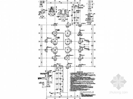 两层(底部局部架空)框架结构食堂及连廊结构施工图