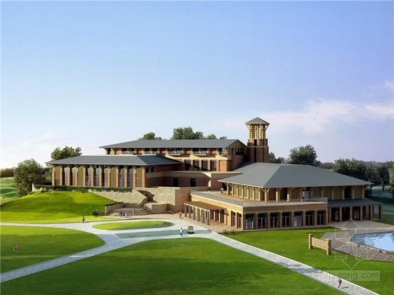[天津]美式风格高尔夫俱乐部会所建筑设计(含CAD SU 知名设计院)