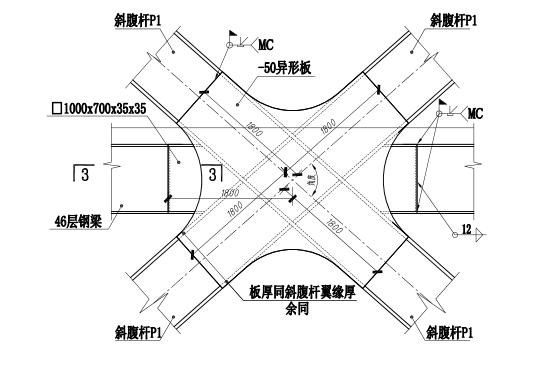 64层框架核心筒结构超高层大厦结构施工图(CAD、70张)_3
