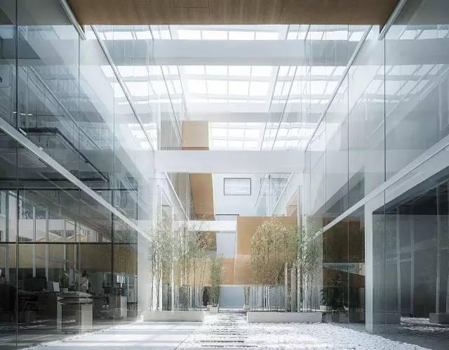 """旧厂房改造设计成""""层叠矩阵""""办公空间"""