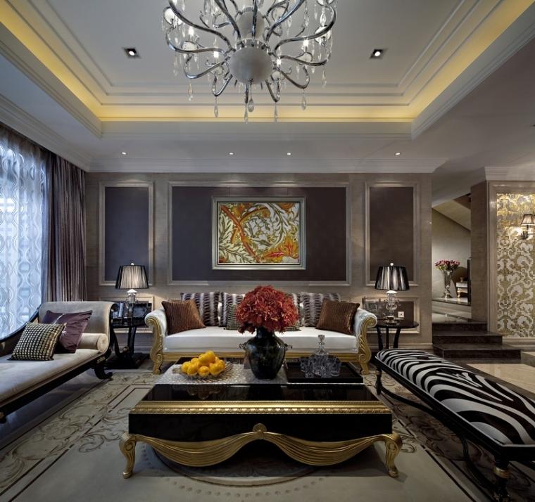 深圳圣莫利斯13栋240平复式别墅样板房室内设计方案