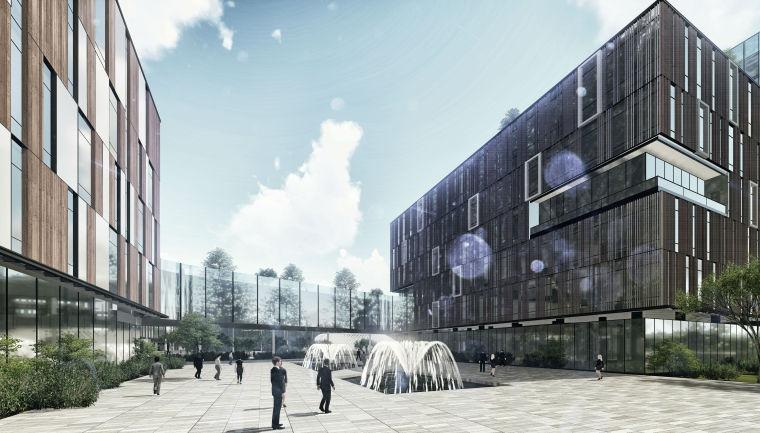 [江苏]高新区中韩产业园联动区核心启动区建筑模型设计—上海联创