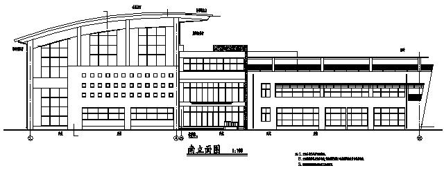 高层框剪结构体育馆建筑施工图(含水暖电全专业图纸)