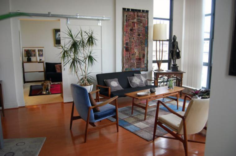 简易中式混搭清新自然生活一居室实景图