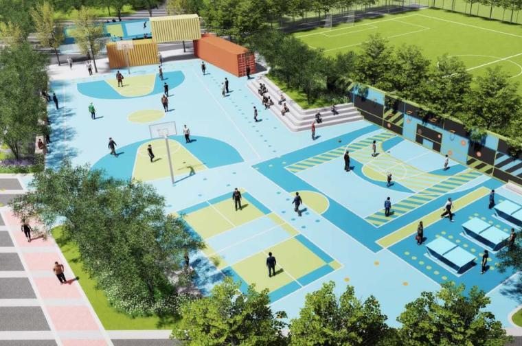 [上海]万科安亭体育公园景观最终概念设计(PDF+96页)