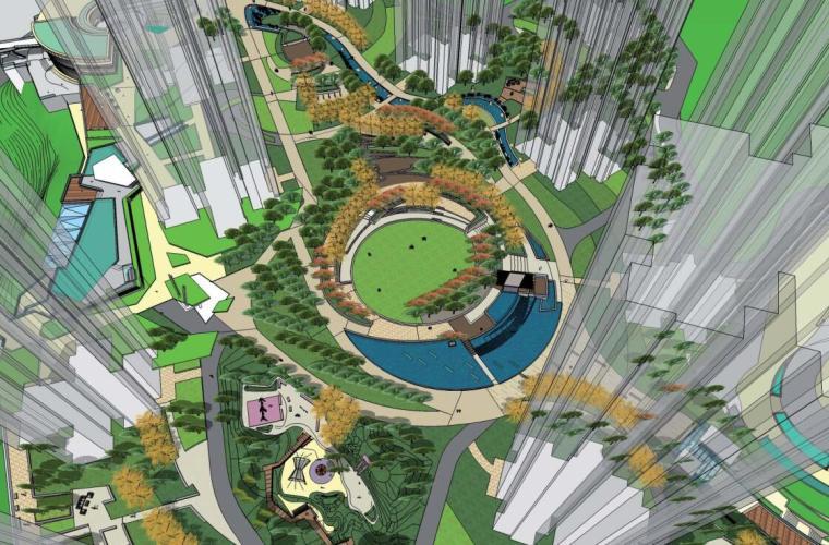 [重庆]春风与湖项目一期景观概念方案文本设计(PDF+94页)