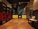 中式餐厅前台会客区3D模型