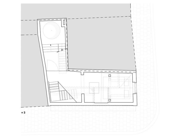 比利时一室小型酒店建筑平面图 (17)
