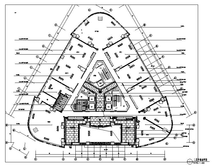 [上海]知名商区写字楼内装设计施工图(附效果图)