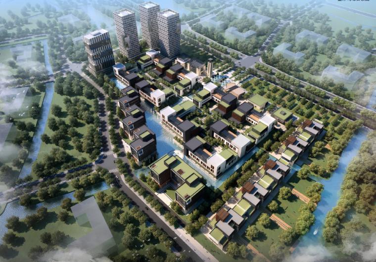 [江苏]杭州西溪湿地办公区规划建筑方案高清文本