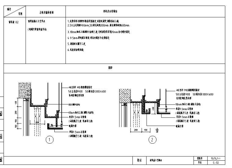 400套装饰工程通用节点构造详图(用料+工艺做法)