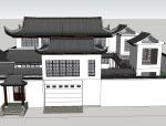中式经典古建四合院模型.skp