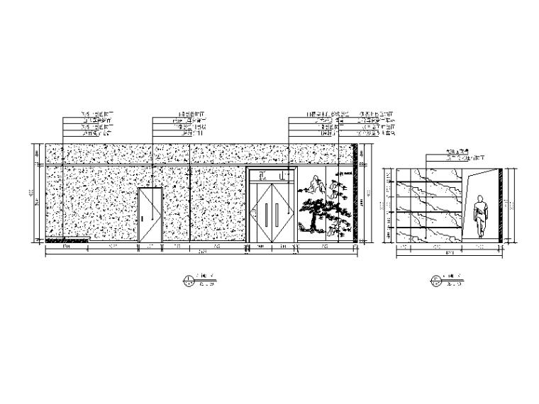 混搭风格茶餐厅设计CAD施工图(含效果图)_4