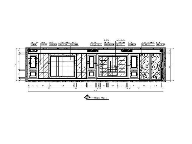 【山西】美式风格跃层公寓设计CAD施工图(含效果图)_2