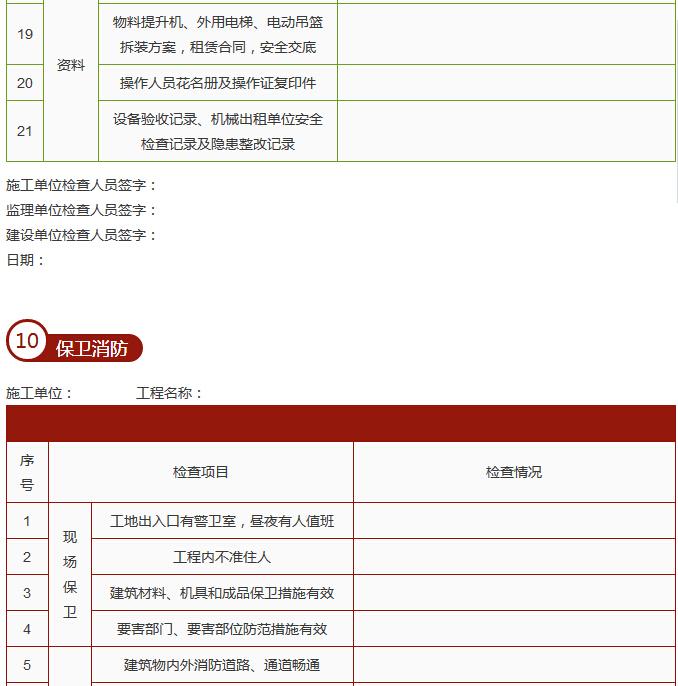 建筑施工单位节后复工10个安全检查表_16