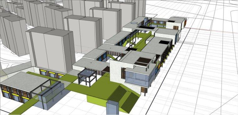 规划住宅现代高层平面立面总图skp+商业商业街平面立面总图-索引图032