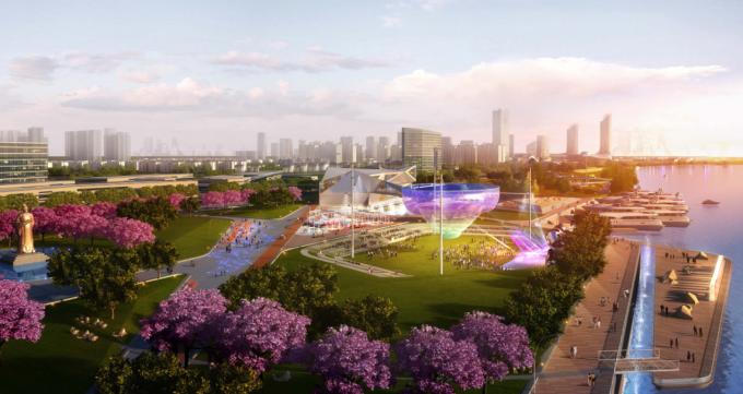 [广西]山地绿廊汽车文化主题叠级滨水景观带设计方案