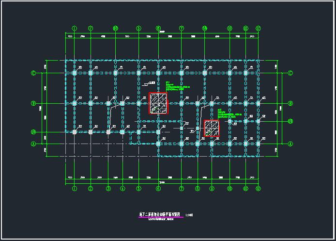 九层框架结构住宅地下室碳纤维加固图