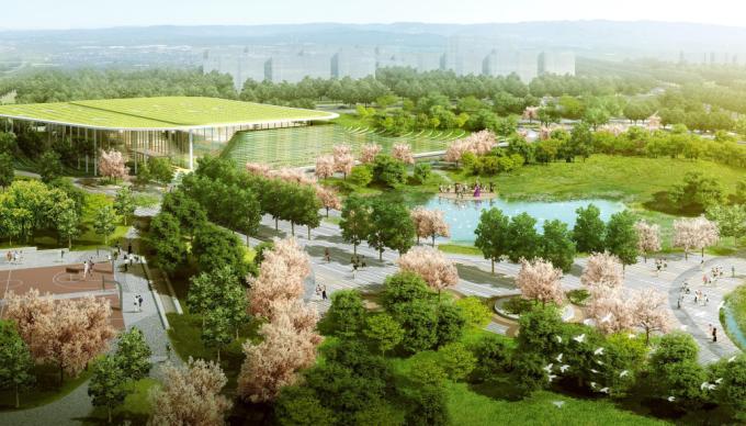 """[天津]""""海绵城市""""滨河多样地形生态垂直绿化公园景观设计方案(国际竞赛作品)"""