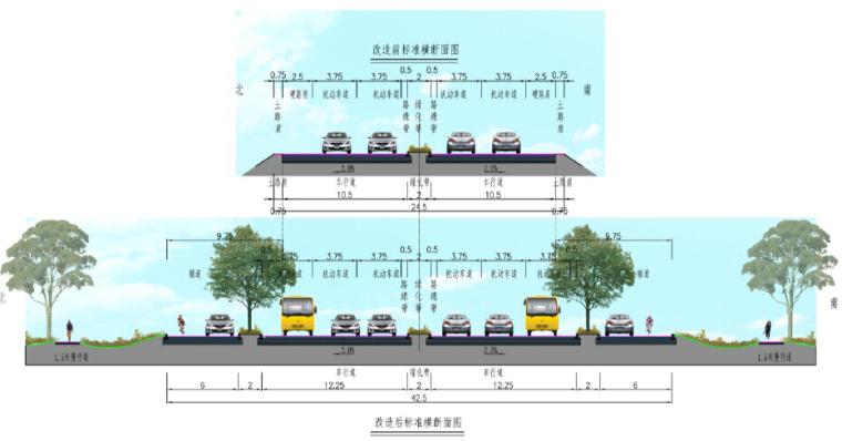 市政道路提升改造工程设计方案投标文本94页附177张图纸(拼宽桥拼宽路基,路桥交通景观)_9
