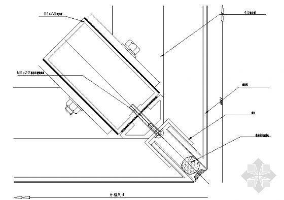 铝塑板阳角节点图
