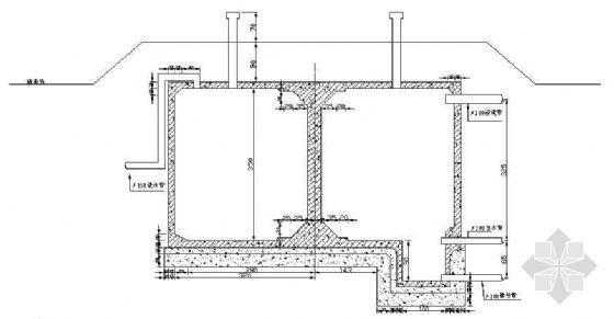 混凝土圆型蓄水池结构图纸