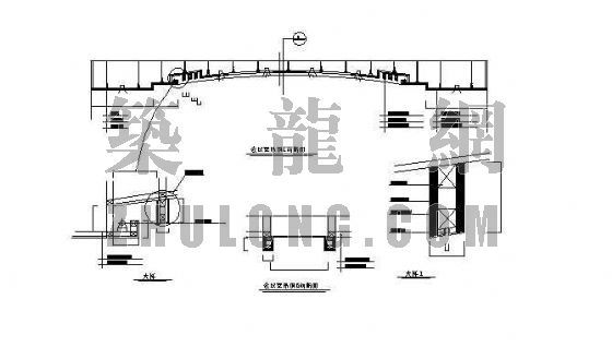 会议室吊顶断面及节点图