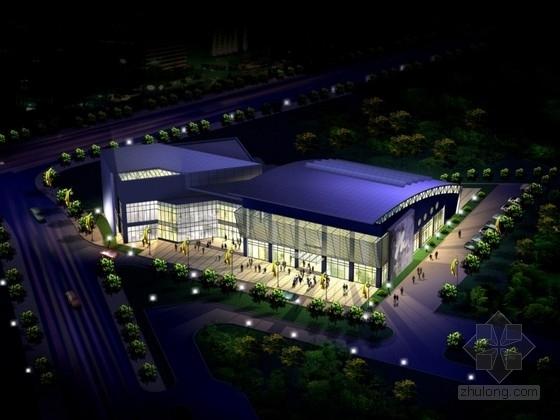 [上海]某高校二层体育馆游泳池建筑方案文本(含CAD)