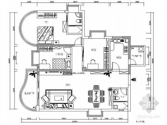 [江西]简约现代三室两厅一卫装修图