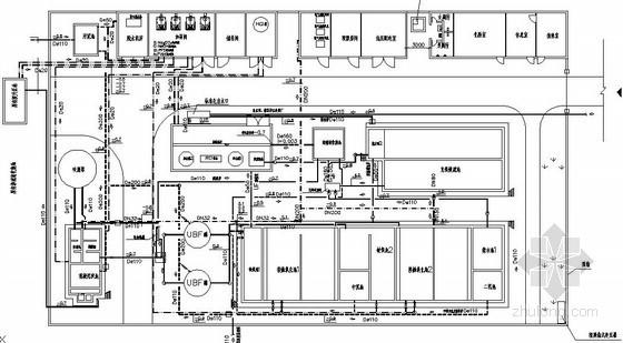[句容]某生活垃圾渗滤液处理设计施工图