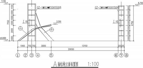 弧形钢结构大门施工图