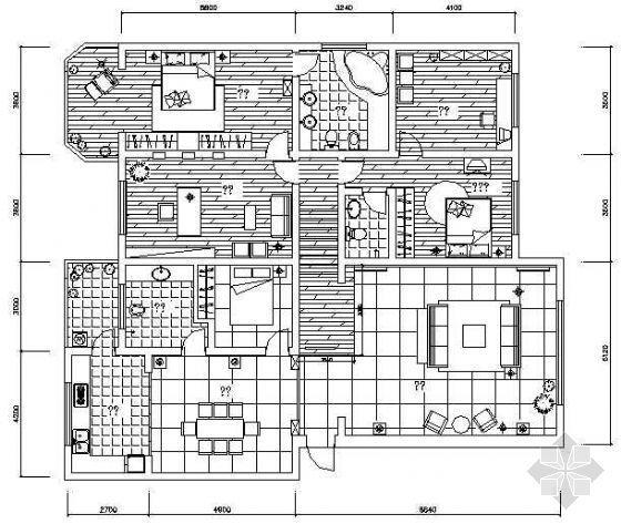 某中式五室两厅装修图