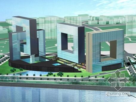 [大连]某开发区南部滨海新区(酒店、商务楼、公寓)概念规划设计(含效果图)