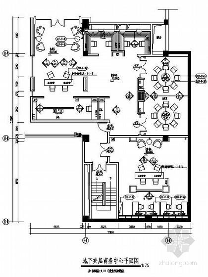 主题酒店地下夹层商务中心施工图