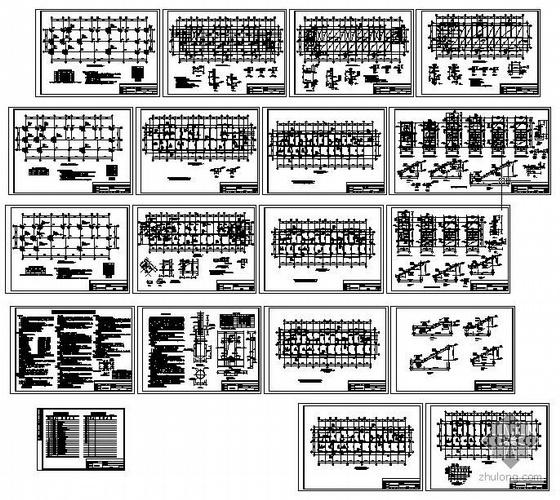 [甘肃]某带六级人防地下室六层框架住宅结构设计图